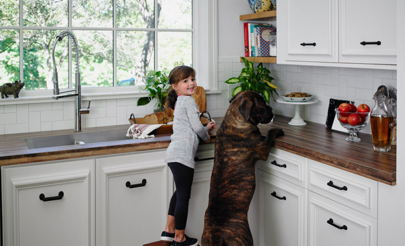 What is the best kitchen design when you have kids?