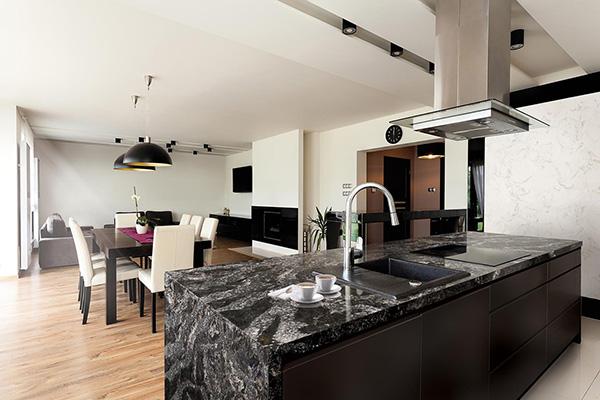 countertop cabinets dark