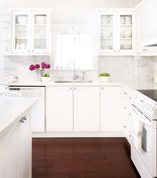 White Kitchen Countertops and Cabinets Inspirations ...