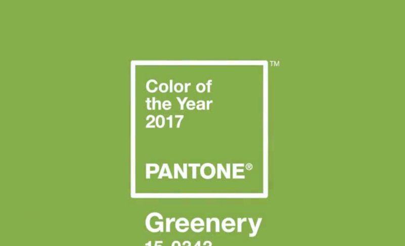 Pantone's 2017 Color of the Year – Greenery