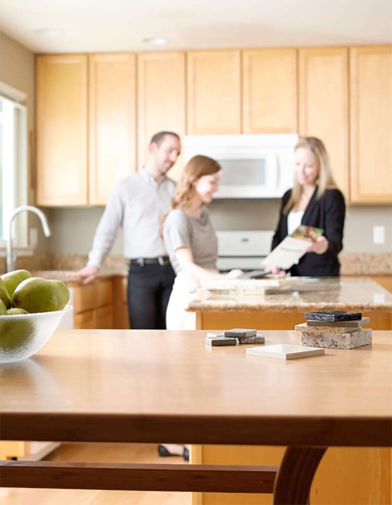 floform winnipeg countertop in home consultation