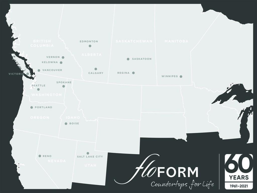 floform countertop locations